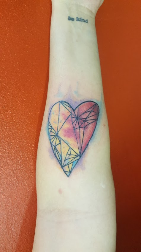 Watercolor Geometric heart
