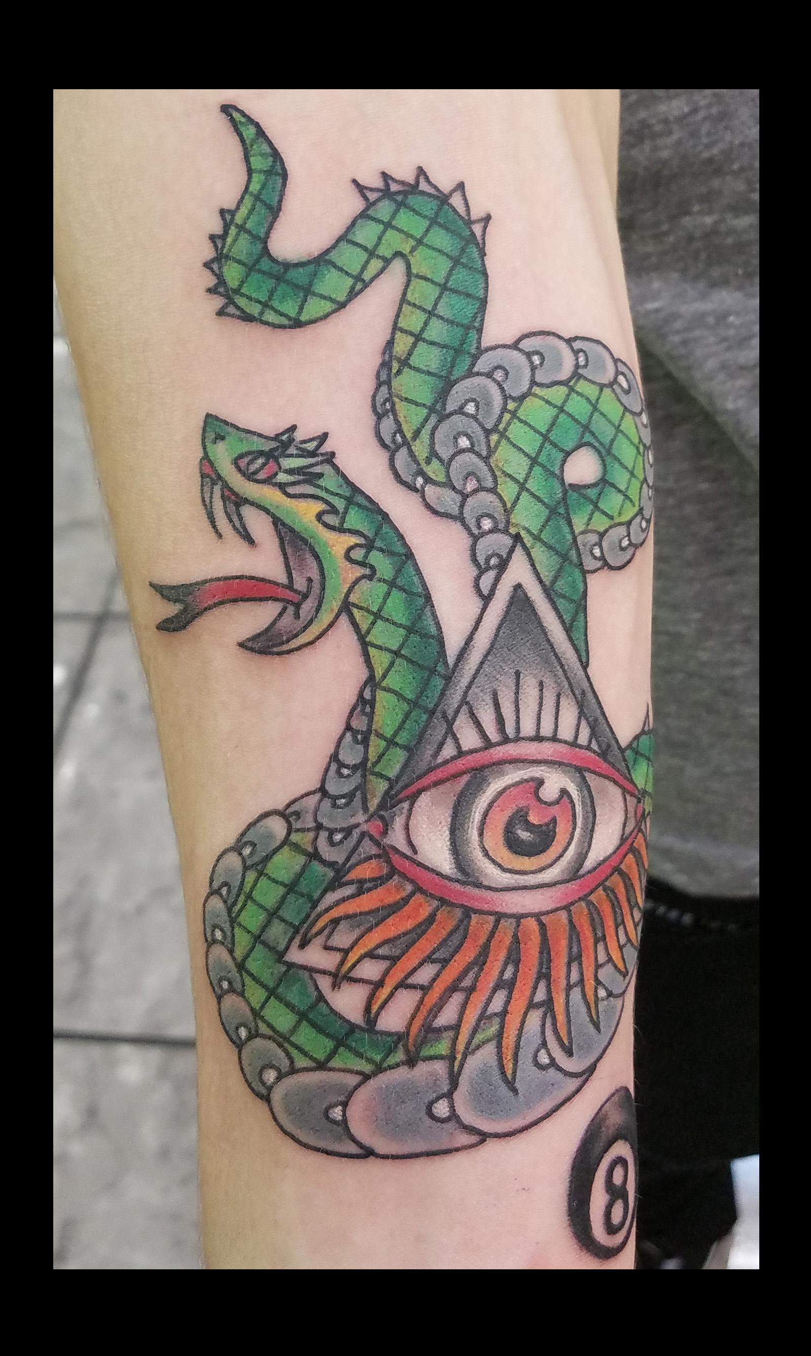 Snake tattoo by Ruben