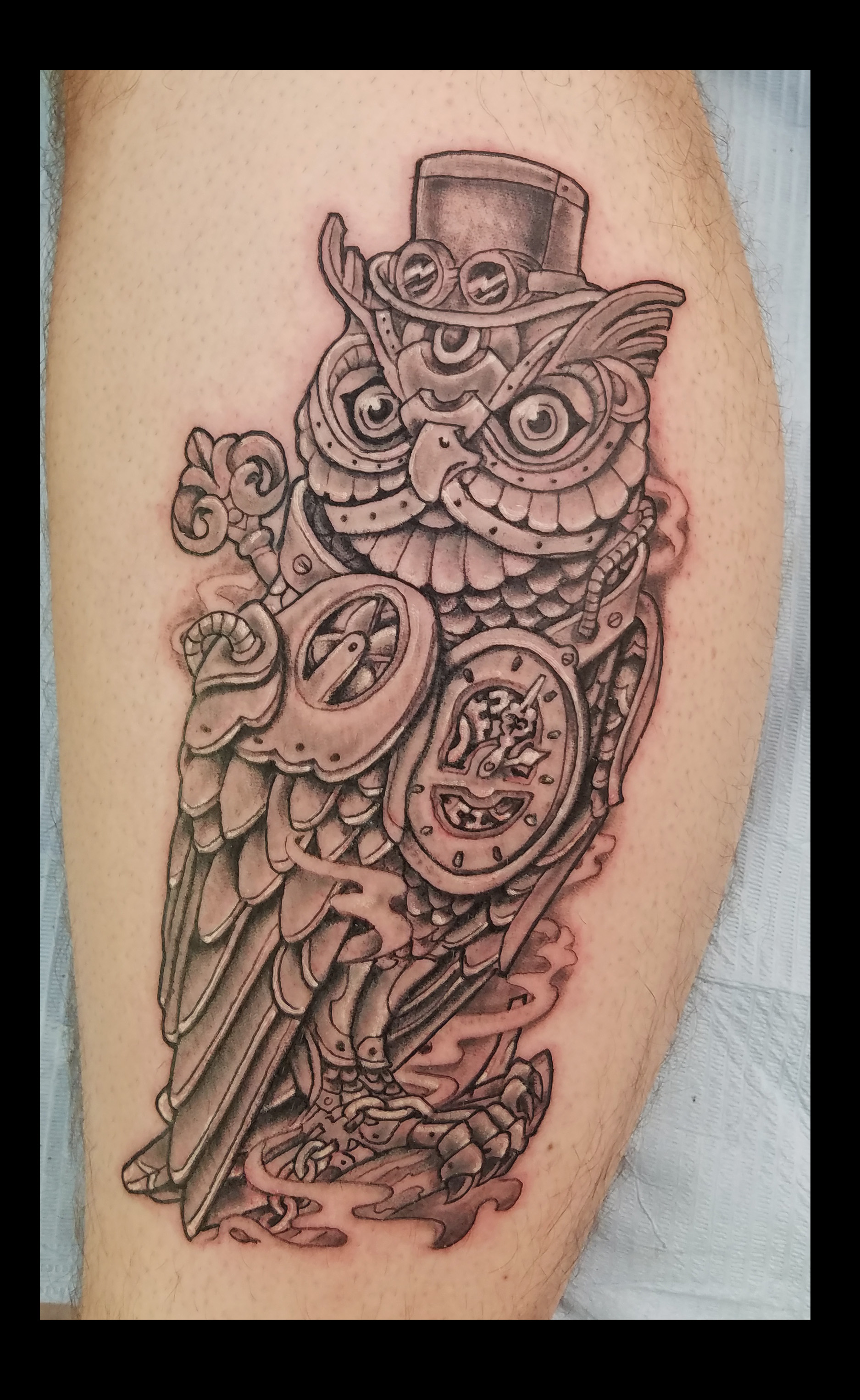 Mechanical Owl  tattoo by ruben
