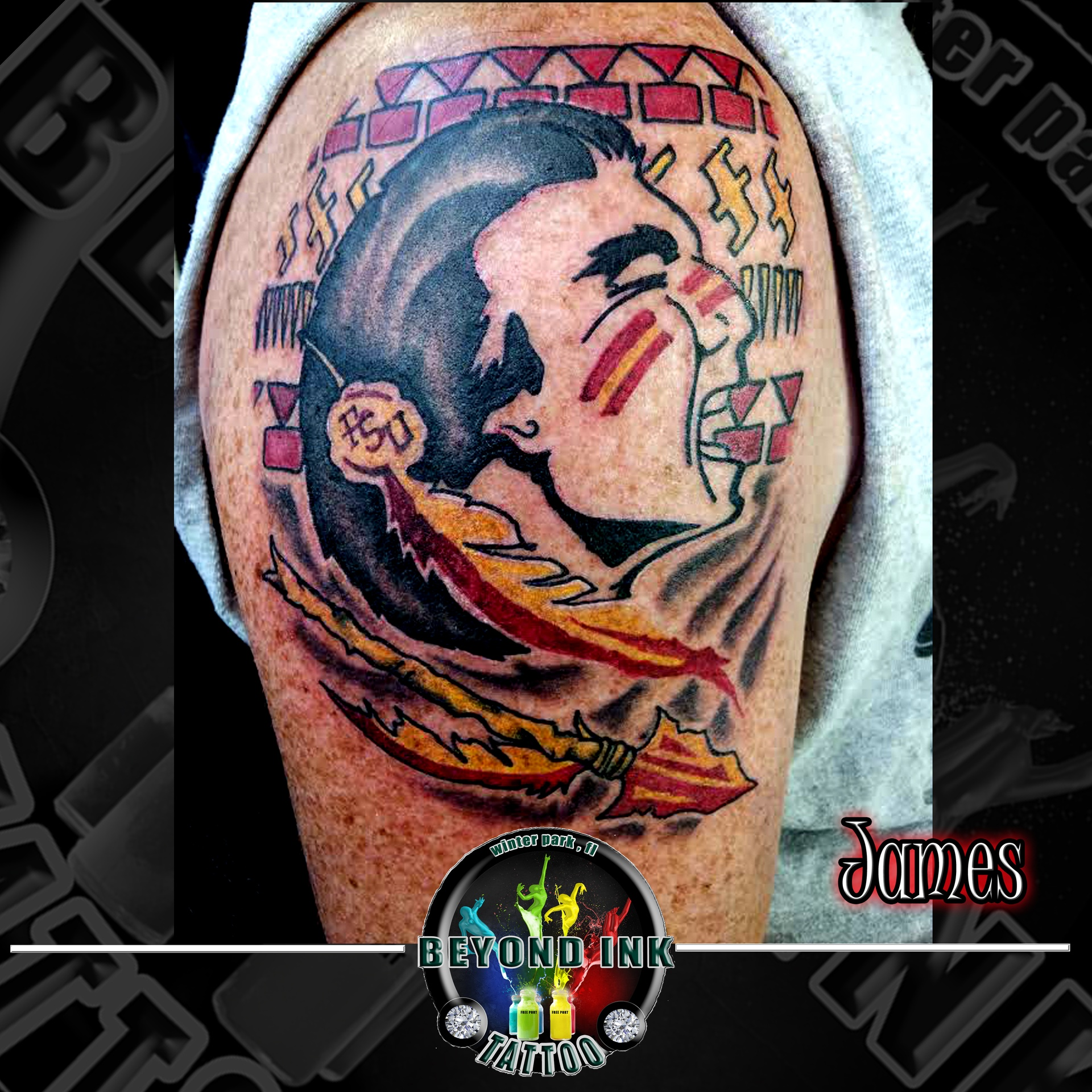 Florida State Seminoles FSU Tattoo